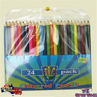Pack of 24 Wood Colour Pencils Non Toxic Kids Drawing Art Color Pencil TOM-P406