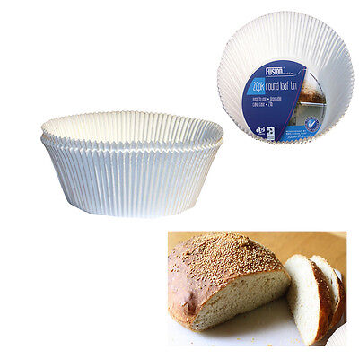 Paper Bread Loaf White 2Lb Disposable Tin Liners Cake Cases Pudding