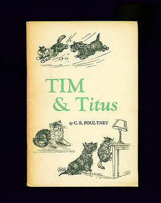 RARE Dog Story Book 1942 Scottish Terrier TIM & TITUS Cat by CB Poultney