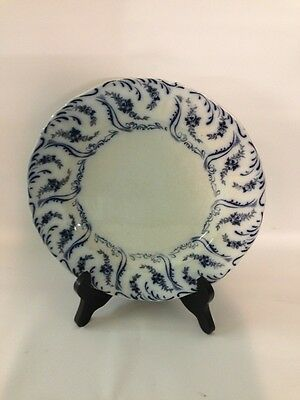 """""""Constance"""" Flow Blue Circa 1902 9.25"""" Plate WAA & Co England No Chips"""
