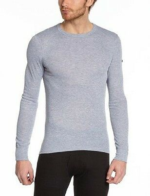 Odlo Originals Warm T-Shirt chaud col rond manches longues homme Grey NEUF