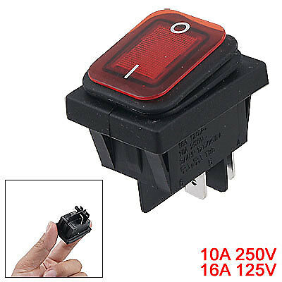 10A/250V 16A/125V Waterproof Button 4 Pin DPST ON/OFF Panel Mount Rocker Switch