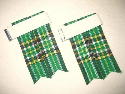 Irish Heritage Tartan Kilt Hose Flashes for Men NEW - FREE SHIPPING !