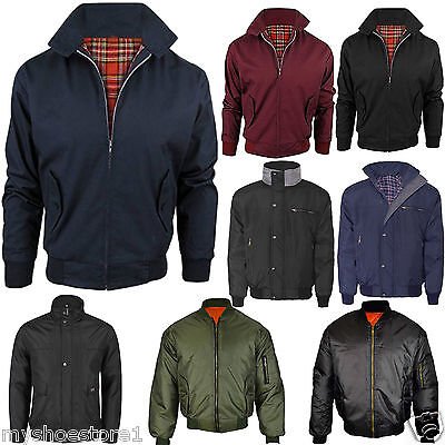 Mens Jacket Outdoor Winter Biker Classic Trendy Vintage Bomber Work Mod Coat Top