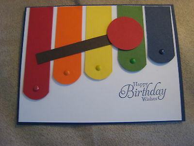 Stampin Up Card Handmade Happy Birthday Musical Xylophone