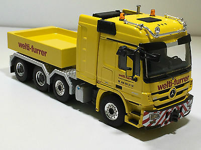"WSI MERCEDES ACTROS MP3 L-CABINE 8x4 BALLAST BOX SINGLE TRUCK ""WELTI-FURRER"""