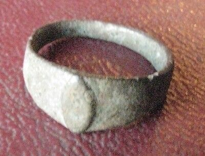 Authentic Ancient Artifact   Bronze Finger RING Sz: 1 US 12.75mm 12684