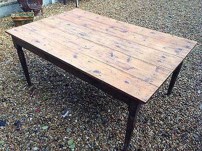 Antique French Pine Cottage Table
