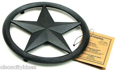 NEW~ Old Mountain STAR Black Cast Iron Functional Trivet/Wall Decor Hanging