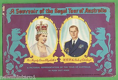#t41.  1954 Royal Tour Of Australia Push Out Booklet