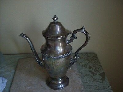 Vintage  5th Avenue Silver Co. Silver on Copper Coffee Urn