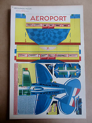 Decoupages Faciles Bias Paris Planche A Decouper 5 Aeroport Aviation Annees 50