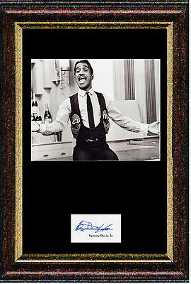 Reproduced signed autograph item by Sammy Davis, Jr. framed & mounted 12x16 inch