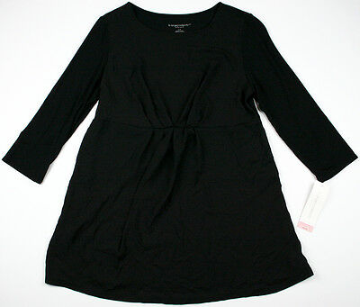 New Womens Maternity Top Long Sleeve Liz Lange Black Sheer NWT XS S M XL XXL
