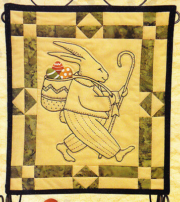 PATTERN - Peter Cottontail - fabric framed stitchery PATTERN - Kathy Schmitz