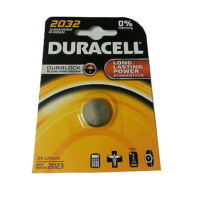 DURACELL CR2032 3V New Batteries Lithium Coin Cell Battery 2032 EXPIRY 2023