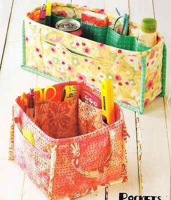 PATTERN - Pockets to Go - fabric organiser PATTERN in 2 sizes - Atkinson