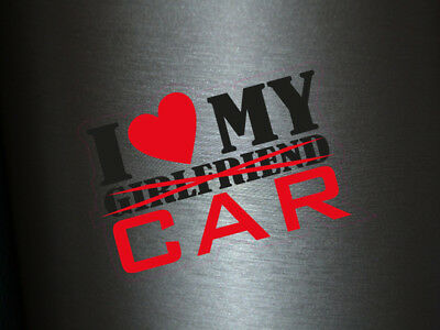 1 x Aufkleber I Love My Girlfriend Sticker Shocker Autoaufkleber Tuning Fun Gag