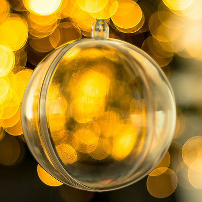15x Baubles Transparent Fillable Christmas Tree Ball Decoration Ornaments bauble