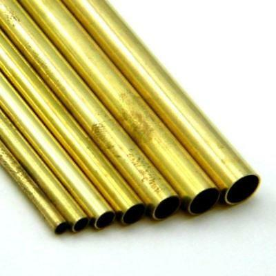 "Brass Tubing for Model Making - 12"" Long Tube"