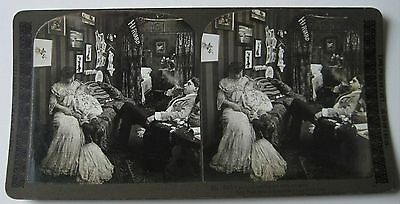 GHOST Apparition of Woman & Child Spirit HARVARD Banner Stereoview H.C. White