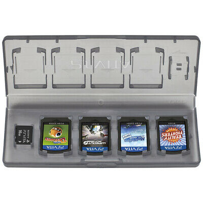Officially licensed 10 in 1 game storage travel case for Sony PS Vita - Black
