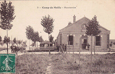 MAILLY camp 9 manutention timbrée 1906