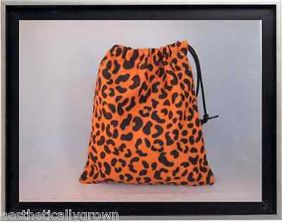 Gymnastics Leotard Grip Bags / Orange Cheetah Gymnasts Birthday Goody Bag