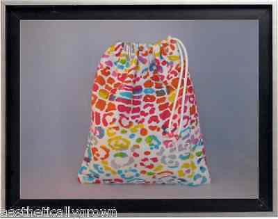 Gymnastics Leotard Grip Bags / Rainbow Cheetah Gymnasts Birthday Goody Bag