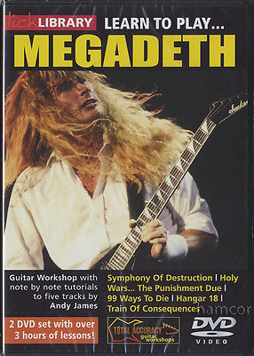 Learn to Play Megadeth Lick Library Guitar DVD Set by Andy James