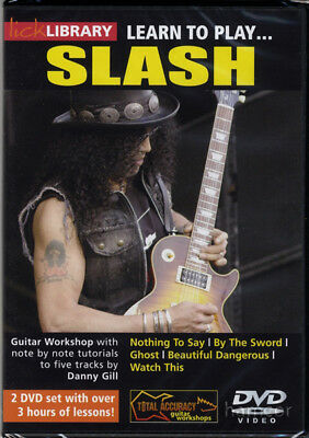 Learn to Play Slash Lick Library Guitar Tuition DVD Set