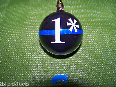Thin Blue Line Christmas Ornament - A GREAT gift for cops - SHIPS FREE! + DECAL!