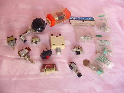 VINTAGE COLLECTION OF ELECTRONIC SWITCHES BIG ASSORTED LOT DIFFERENT NAMES NR