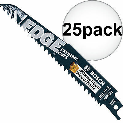 "Bosch Tools 25pk 6"" 5/8T Demolition Reciprocating Saw Blades RDN6V New"