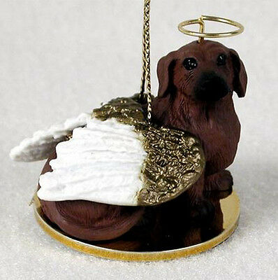 DACHSHUND (RED) ANGEL DOG CHRISTMAS ORNAMENT HOLIDAY Figurine Statue