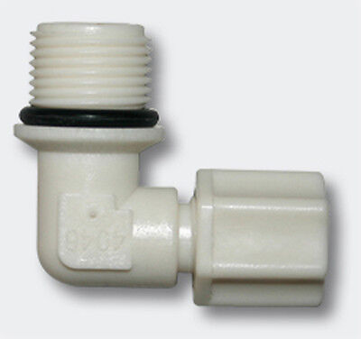 """Jaco-Fitting Schlauch 16,41mm (3/8"""") AG 90° Osmose Ultrafiltration Mikrofilter"""