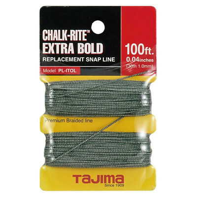 "Tajima 100 ft .04"" Bold Braided Replacement Chalk Line PL-ITOL New"