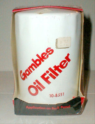 Gambles Oil Filter- 10-8551 Fits GM Rambler Kaiser Products 59-73- Vintage New