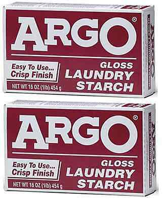 Argo Laundry Starch 2 boxes 1lb Each Play Clay & Multi Purpose