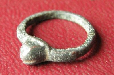 Authentic Ancient Artifact   Roman bronze RING SZ: 1/2 US, under 12mm 11849