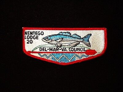 BOY SCOUT   OA  20  NENTEGO  S1B  DEL MAR VA COUNCIL