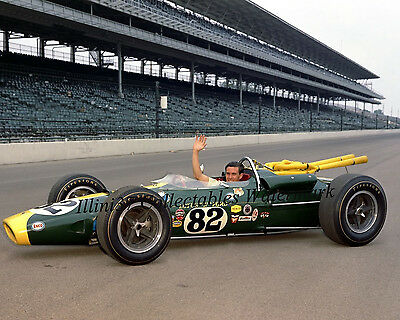 JIM CLARK 1965 INDY 500 WINNER AUTO RACING 8X10 PHOTO