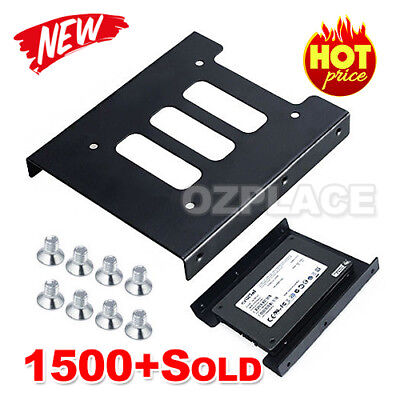 Premium Hard Metal 2.5 to 3.5 Bracket Disk Drive Dock Adapter Mounting Kit SSD