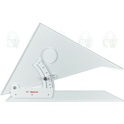 "Aristo 10"" (25cm) Adjustable Set Square. For Technical Drawing. With Inking Edge"