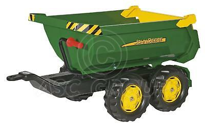 Rolly Toys - Large John Deere Green Halfpipe tipping Trailer for Rolly Tractors