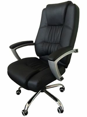 MCombo High Back Office Chair Black Leather Executive Ergonomic Computer Chair