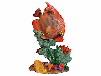 Fish with Coral Base Aquarium Fish Tank Ornament Decoration