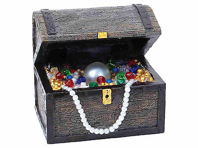 Air Bubble Treasure Chest with LED Aquarium Fish Tank Ornament Decoration