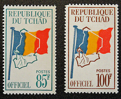 Timbre TCHAD / Stamp CHAD - Yvert et Tellier Service n°8 et 9 n** (Cyn16)