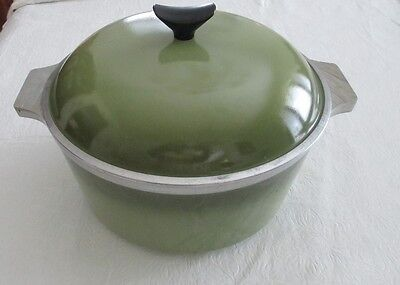 ALUMINUM 5 QT. DUTCH OVEN AVOCADO GREEN W/LID-EXCEPTIONALLY CLEAN